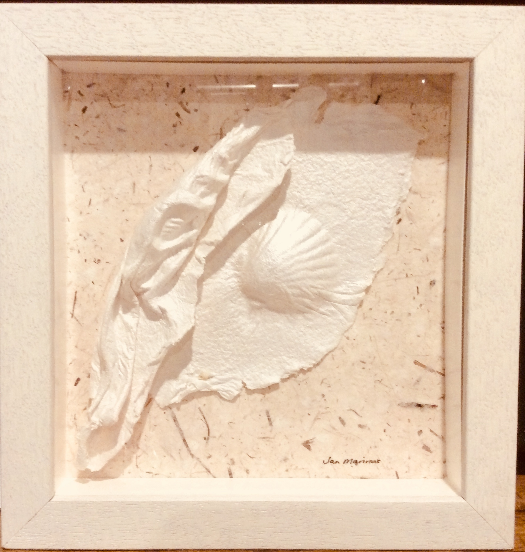 Framed molded paper wall art