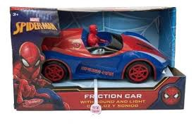 SPIDER-MAN FRICTION CAR WITH SOUND AND LIGHT