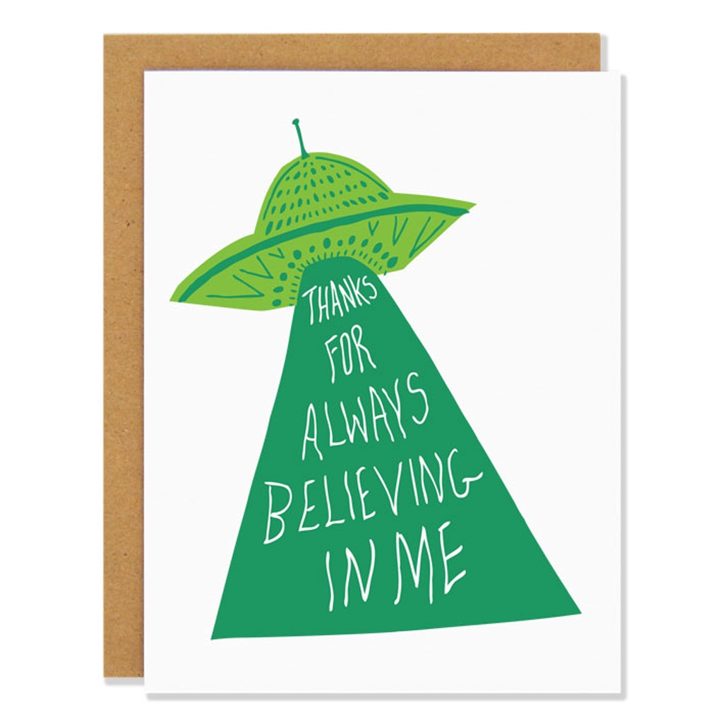 UFO Thank You Card