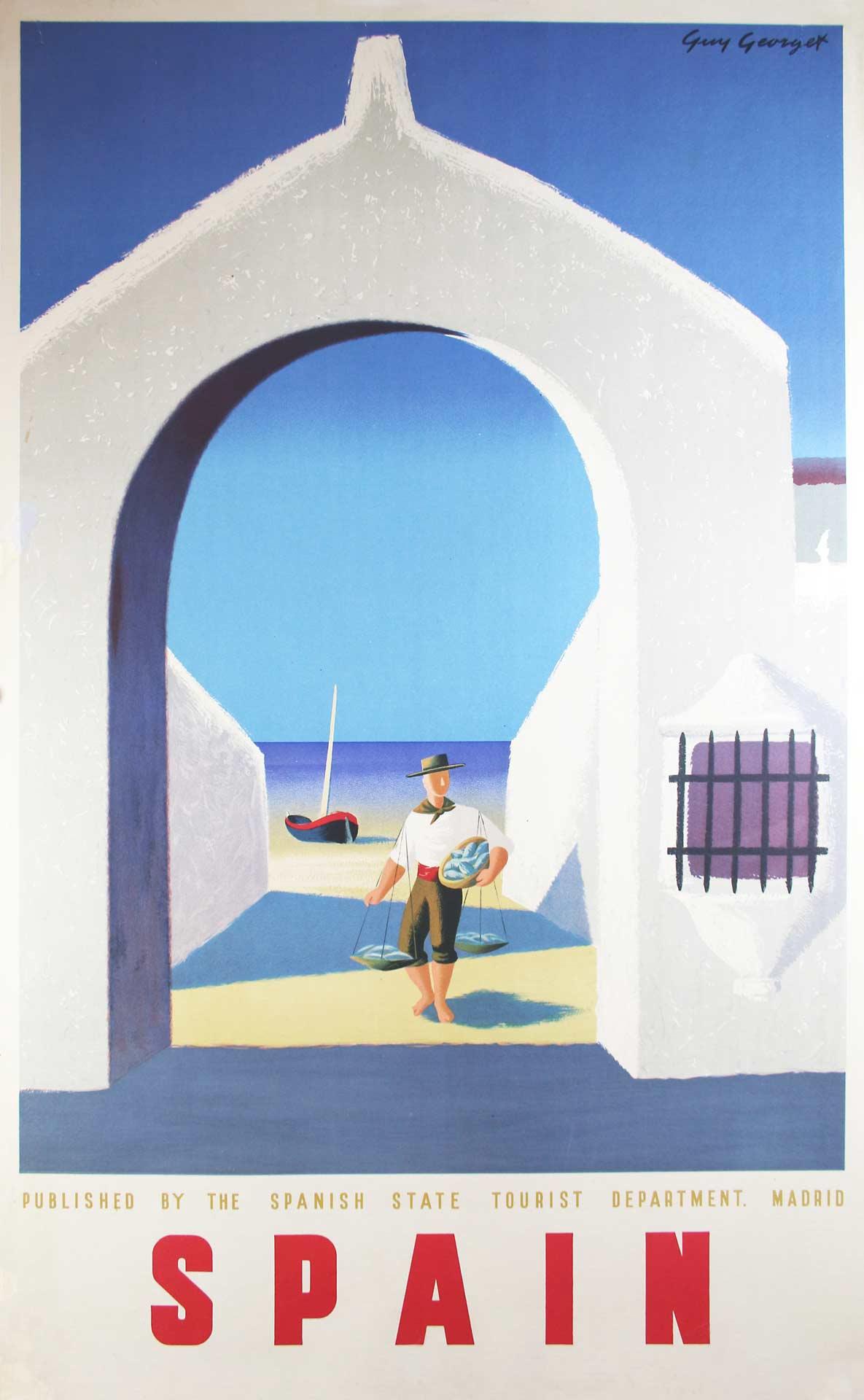Fisherman Spain Poster