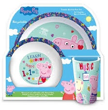 PEPPA PIG BOWL & PLATE SET