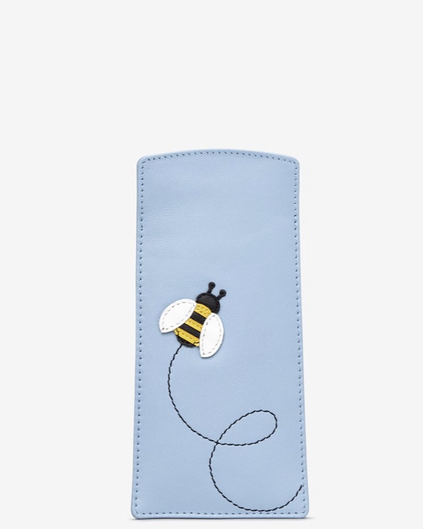 Bumble bee leather glasses sleeve