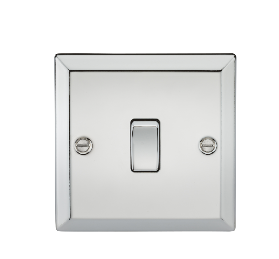 20A 1G DP SWITCH - BEVELLED EDGE POLISHED CHROME