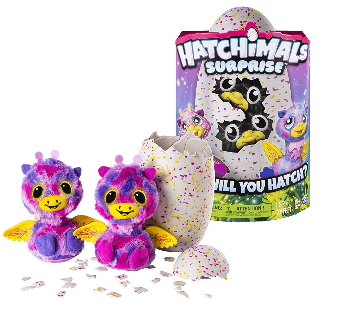 HATCHIMALS SURPRISE GIRAVEN PINK & YELLOW