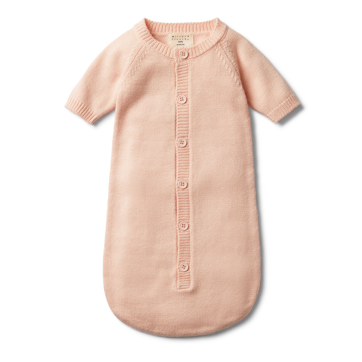 WF Peachy pink knitted cocoon sleeper