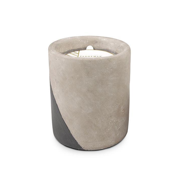 PADDYWAX - URBAN CONCRETE POT 12 OZ IN FIG AND OLIVE