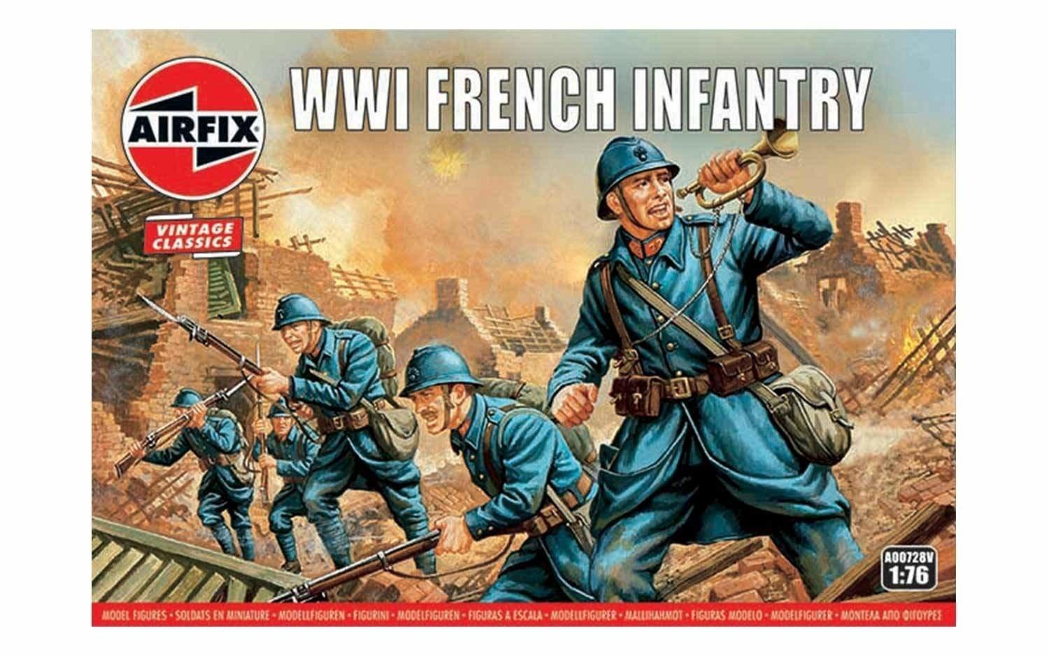 Airfix #A00728V 1/76 WWI French Infantry-Vintage Classics