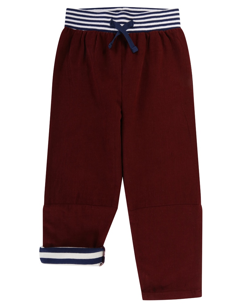 Lilly & Sid Cord Trousers -Burgundy