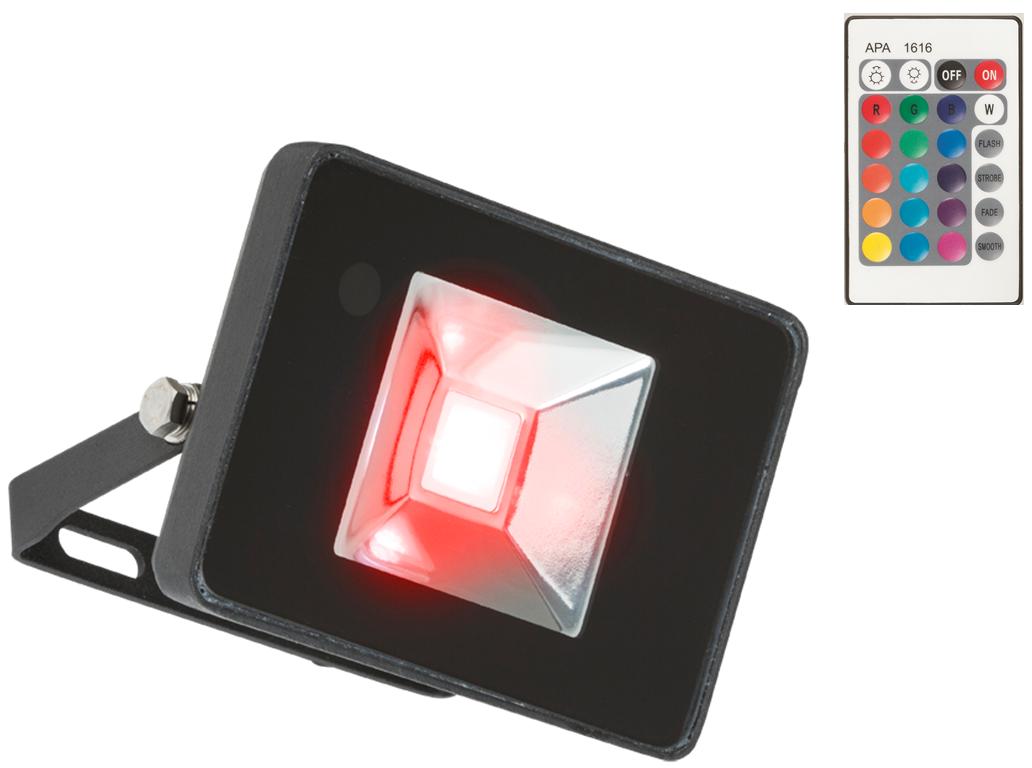 230V IP65 50W RGB LED Black Die-Cast Aluminium Floodlight