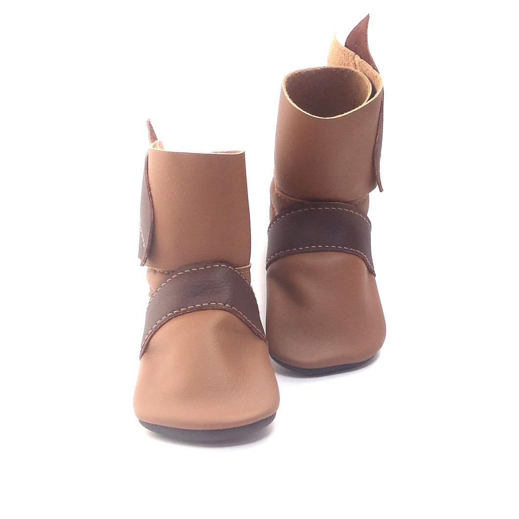 Leather Leaf Boots - fit approx 3-9 months