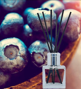 Beautifully Hand Crafted Vanilla & Blueberry Reed Diffuser
