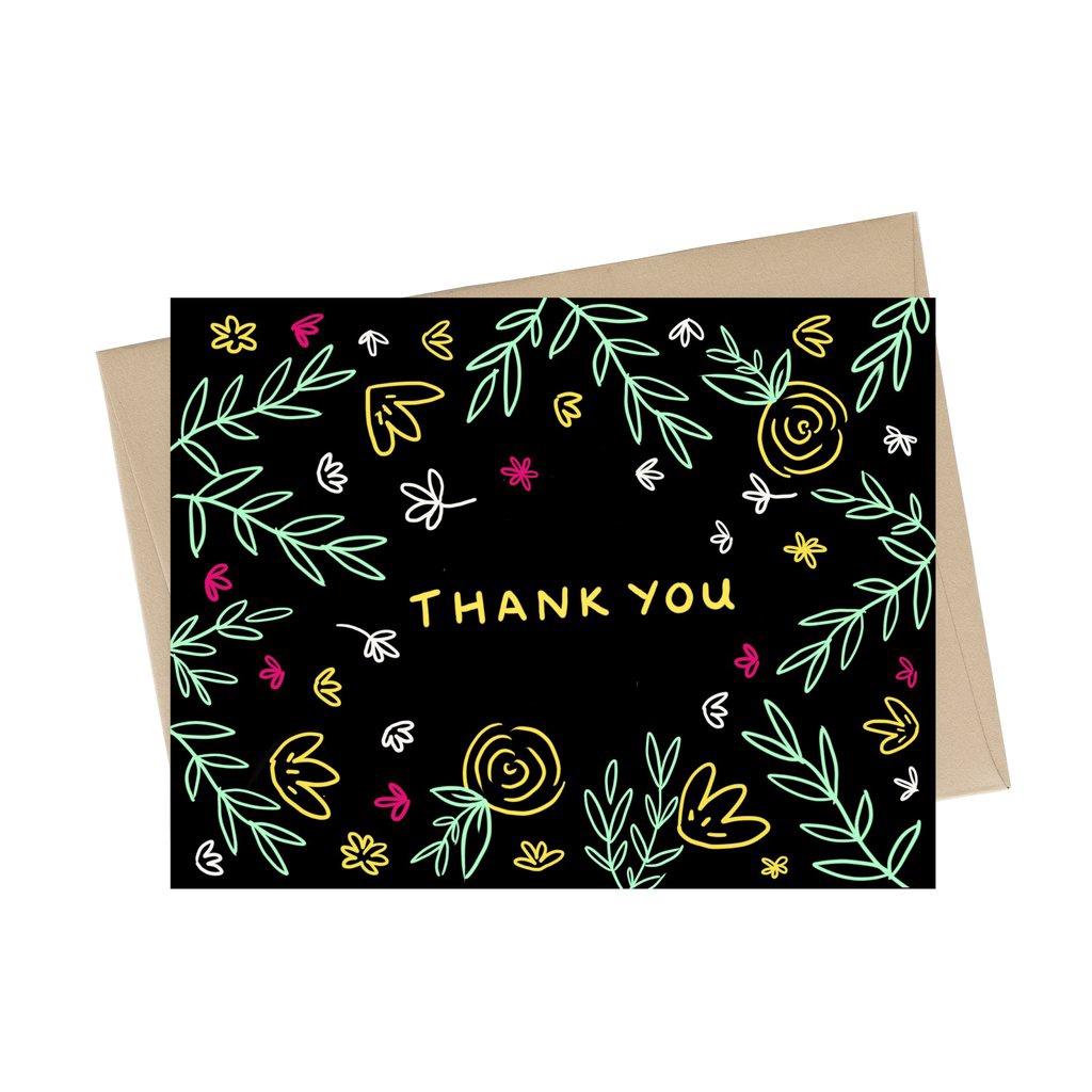 Thank You Neon Card