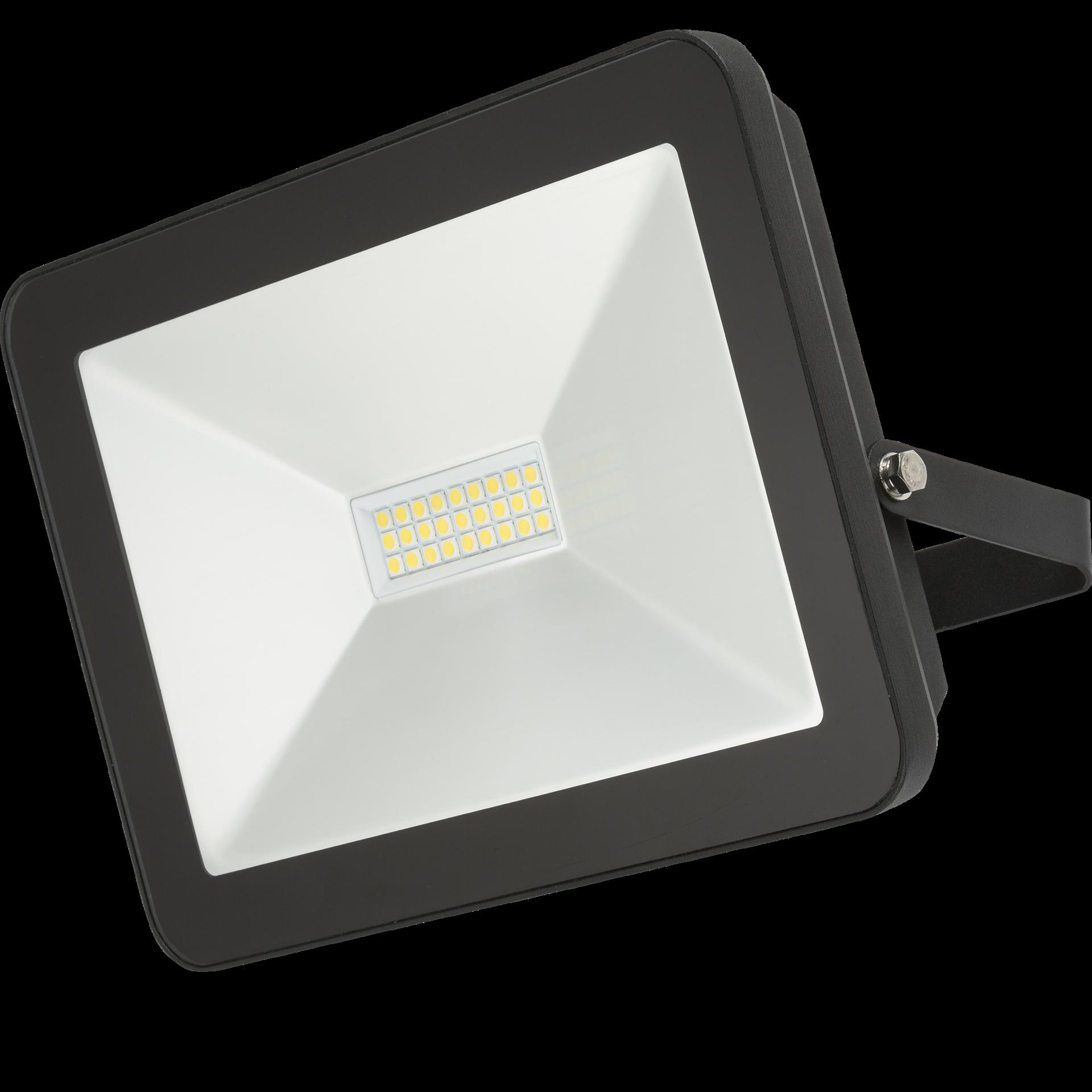 230V IP65 100W LED Black Die-Cast Aluminium Floodlight 4000K