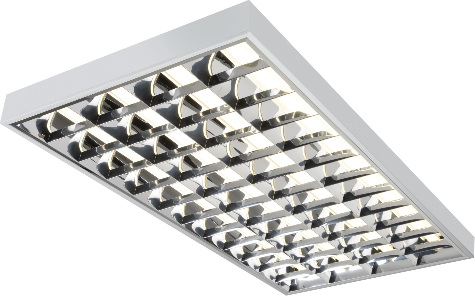 IP20 4x36W T8 CAT2 Surface Mounted Fluorescent Fitting 1220x600x80mm