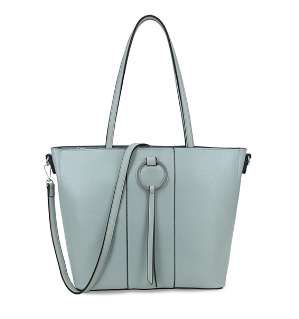 Annette Ring Front Tote (Duck Egg)