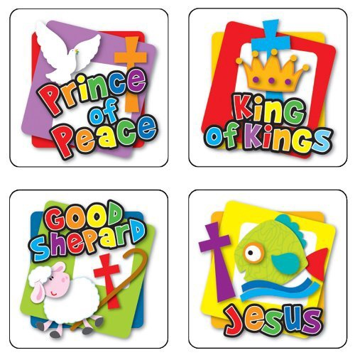 X DC CD 168168 NAMES OF GOD SCRIPTURE STICKERS
