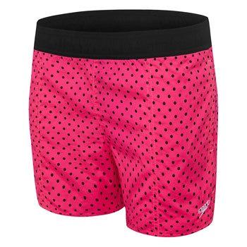 Girls Dot To Dot Watershort Fluro Pink/Black