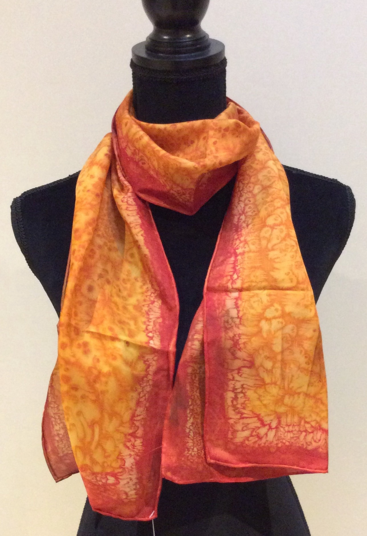 Orange Pure Silk Scarf
