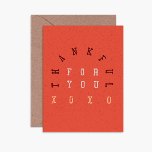 Thankful For You XO Card
