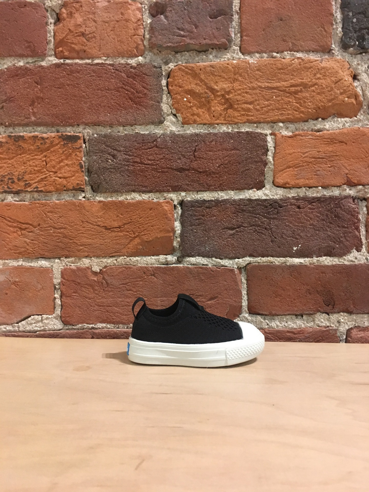 PEOPLE FOOTWEAR - THE PHILLIPS CHILD KNIT IN REALLY BLACK/PICKET WHITE