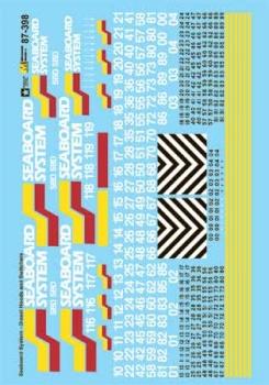 Microscale #460-87398 HO Sea Board System Diesels (1980-1986)