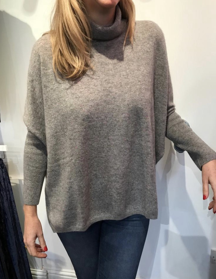 Roll Neck Poncho by Absolut Cashmere