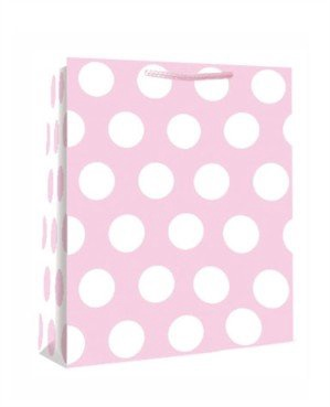 PINK POLKA DOTS MED BAG