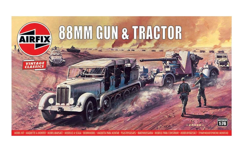 Airfix #A02303V 1/76 88mm Gun and Tractor (Vintage Classics)