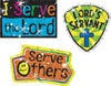 T 63714 SERVE THE LORD STICKERS