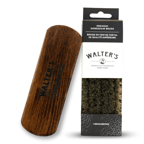 WALTER'S SHOE CARE - PREMIUM HORSEHAIR BRUSH