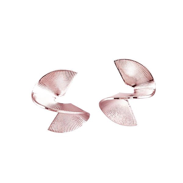 BIKO - SOLARWAVE STUDS MINI IN ROSE GOLD