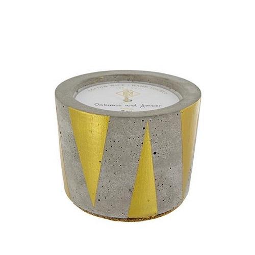 Oakmoss & Amber Gold Triangle Candle