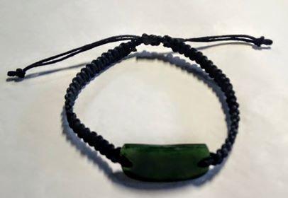 Bracelet - Pounamu on woven band