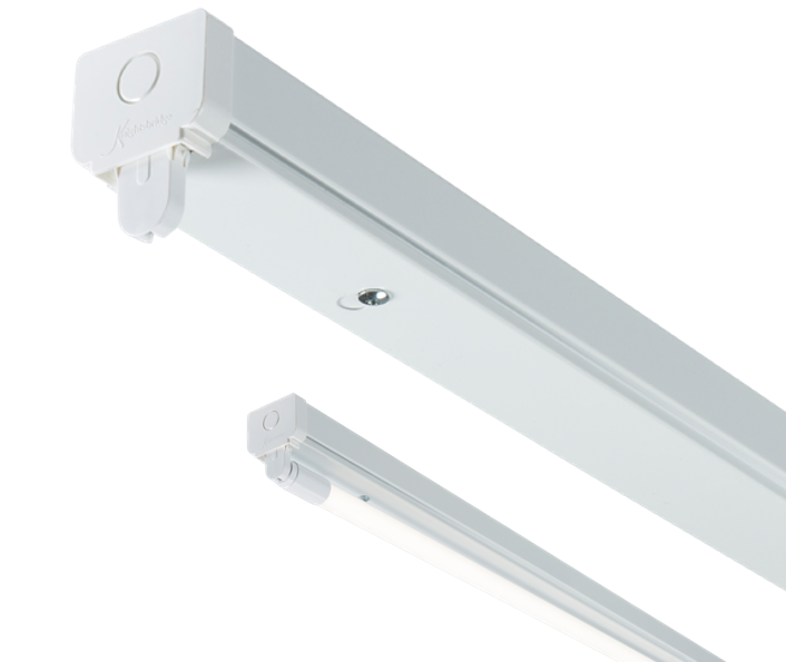 230V T8 Single LED-Ready Batten Fitting 1225mm (4ft) (without a ballast or driver)