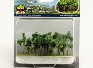 JTT Trees #95616 Green Trees (5cm - 6.4cm) 15pcs