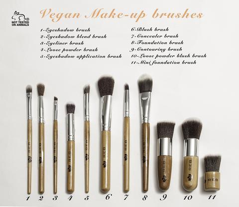 11 Piece Vegan Brush Set