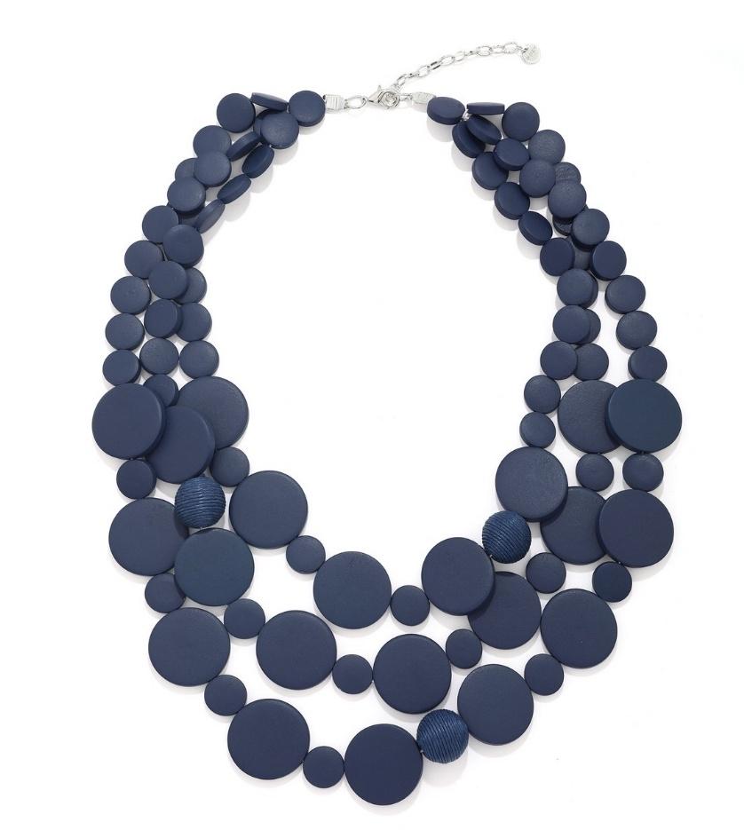Jasmine Wood Bead Statement Necklace