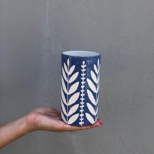 Sprout #6 Cylinder Vase | Marlin