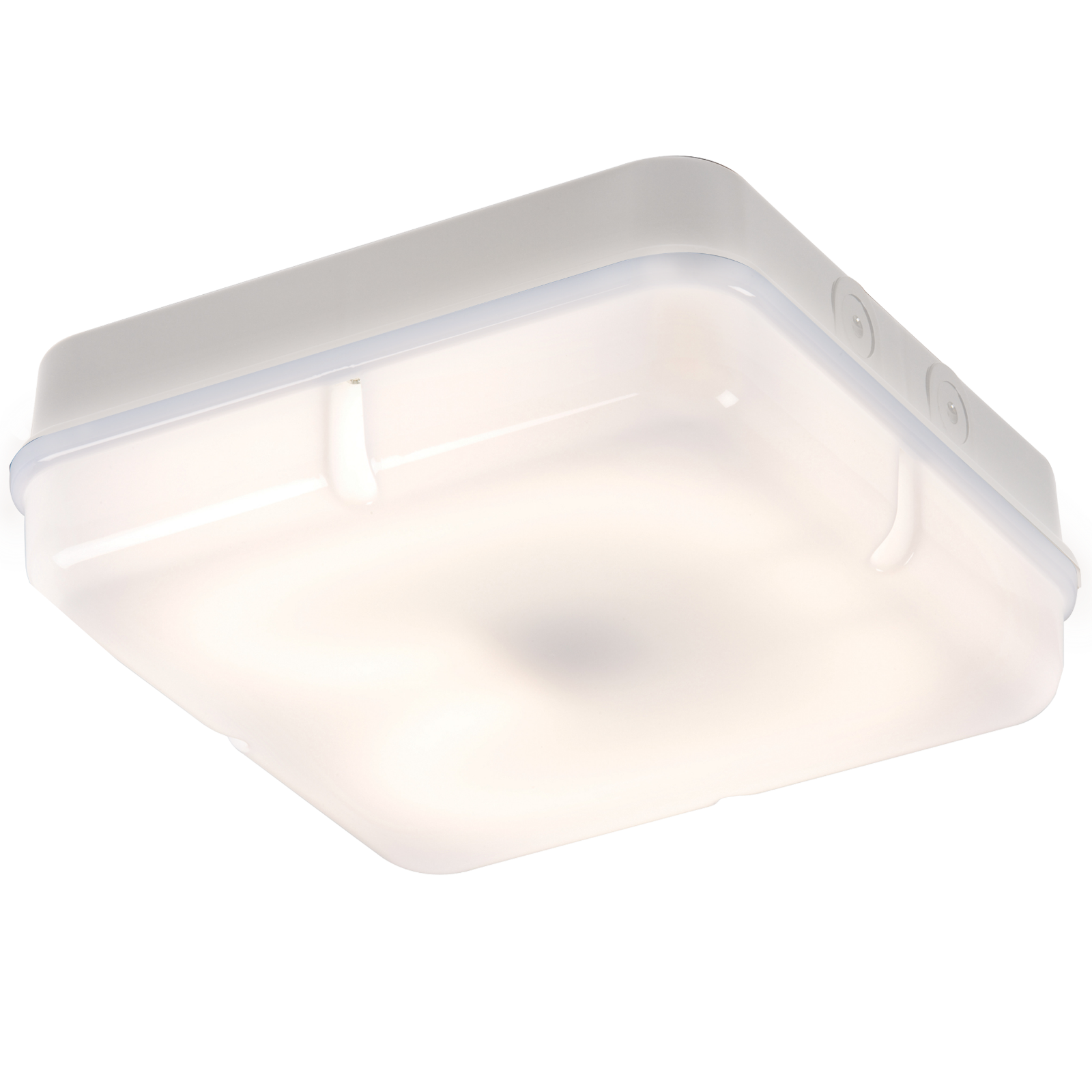 IP65 28W HF Square Bulkhead with Opal Diffuser and White Base