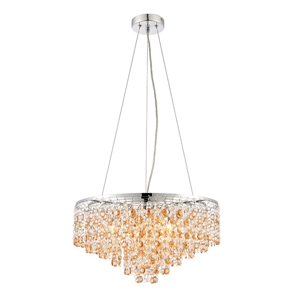Vanessa 5lt pendant 28W - clear crystal glass