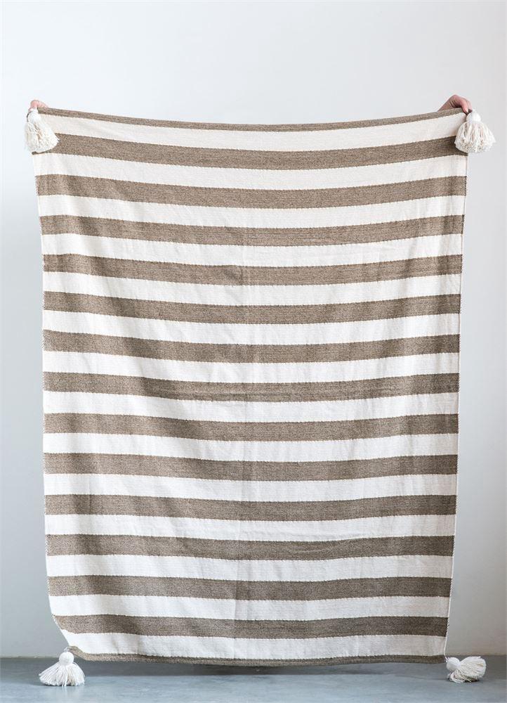 Cotton stripe throw