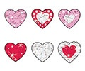 T 6306 SPARKLE HEART STICKERS