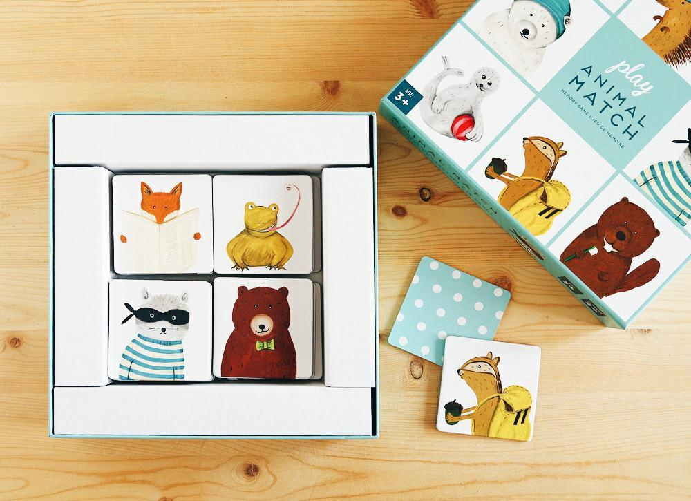 Animal Match Memory Game