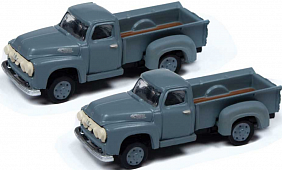 Classic Mini Metals #50393 N Scale 1954 Ford Pickups