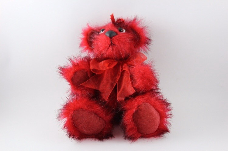 "Handmade Teddybear ""Strawberry"""