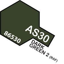 Tamiya Colour Spray Paint #AS-30 Dark Green 2  (RAF)