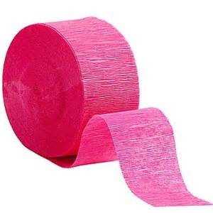CREPE STREAMER BRIGHT PINK