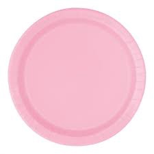 NEW PINK PLATES 9 INCH