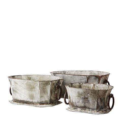 Fenix Galvanised Metal Planter