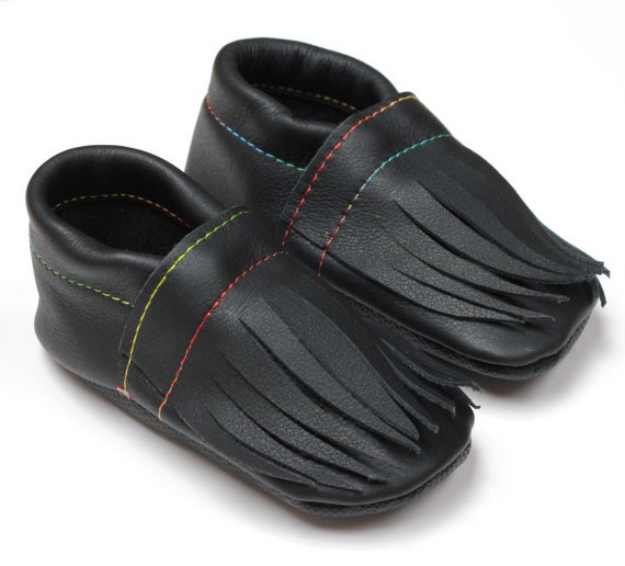 Leather Toddler Moccasins - 3 sizes available